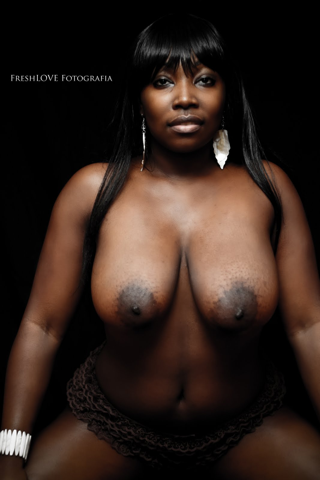 girls Beautiful black ebony