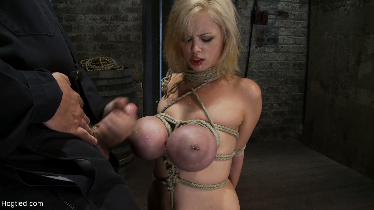 huge boobs bondage big boobs bondage pics pictures bondage hogtied rope around tits videos