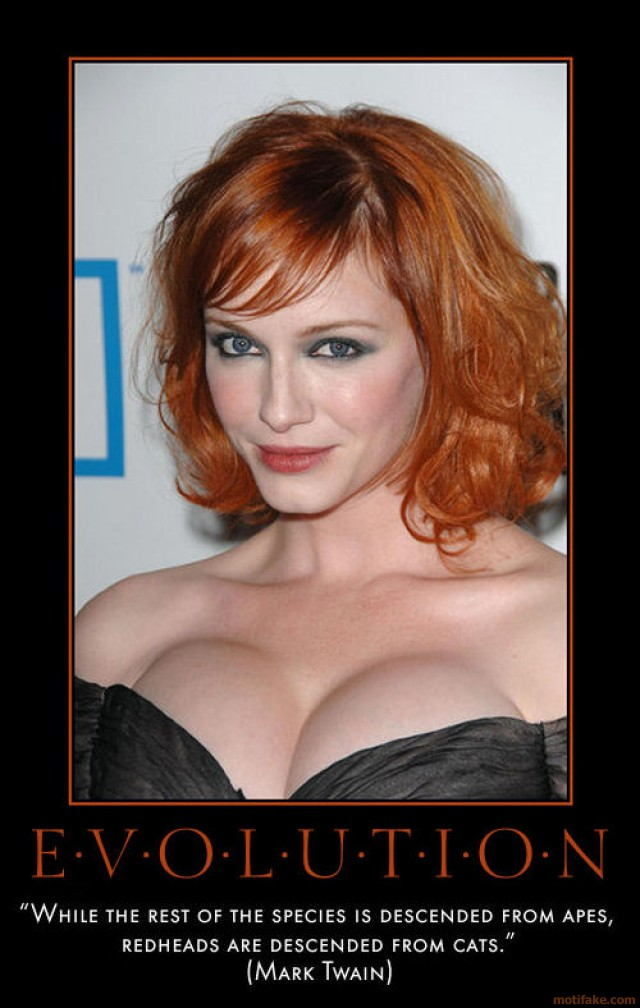 porn redhead time redhead woman demotivational poster evolution life nature human geek origin ape dichotomy
