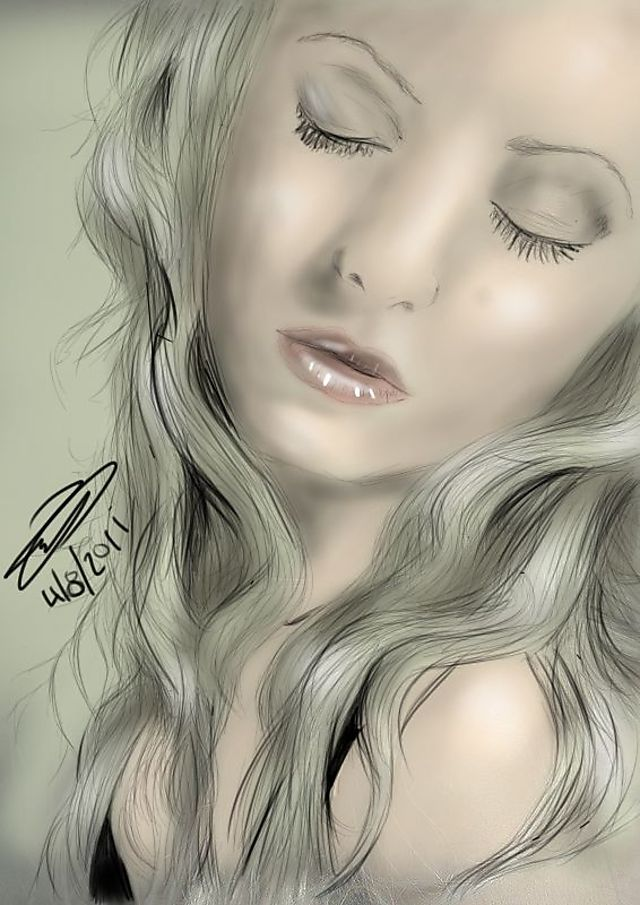 blond girl gallery girl blond artwork public eyes closed