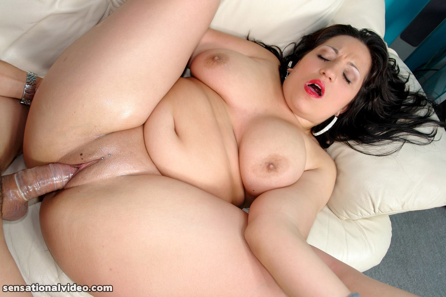 Redhead bbw eliza allure fucks her first big black cock 7