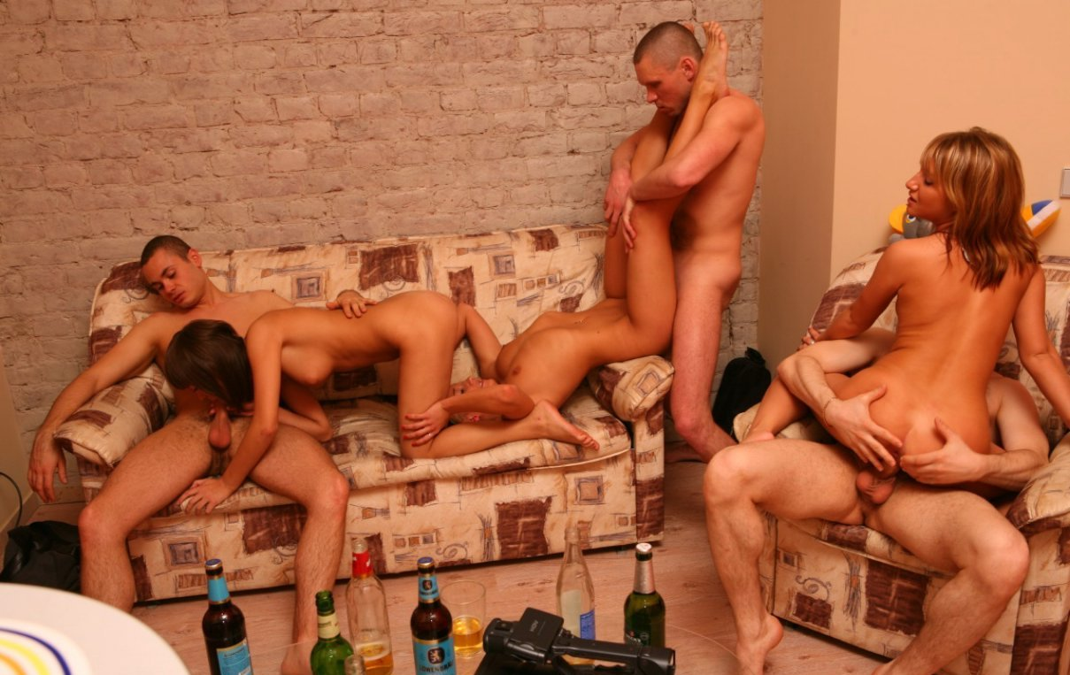 Drunk house sex party