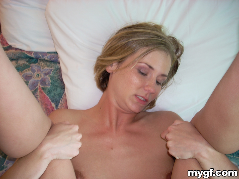 busty wife plays with her nice big boobs