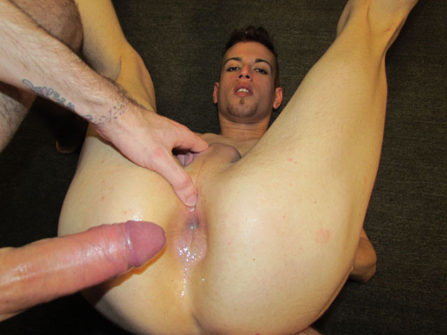 guy butt shooting jizz after bareback