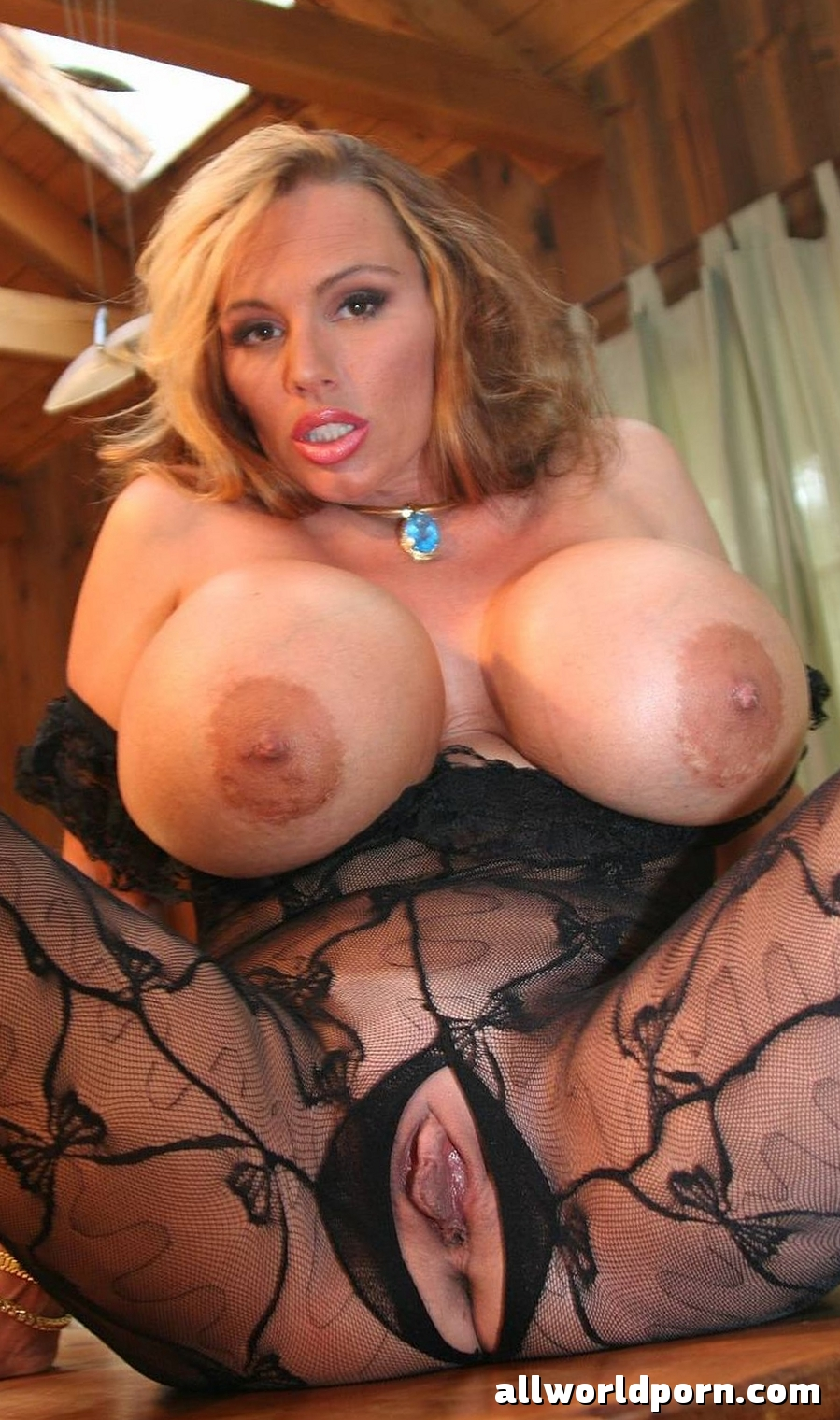 image Mature blonde with bigtits get cumming inside