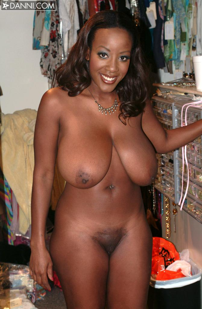 Black girl with big boob