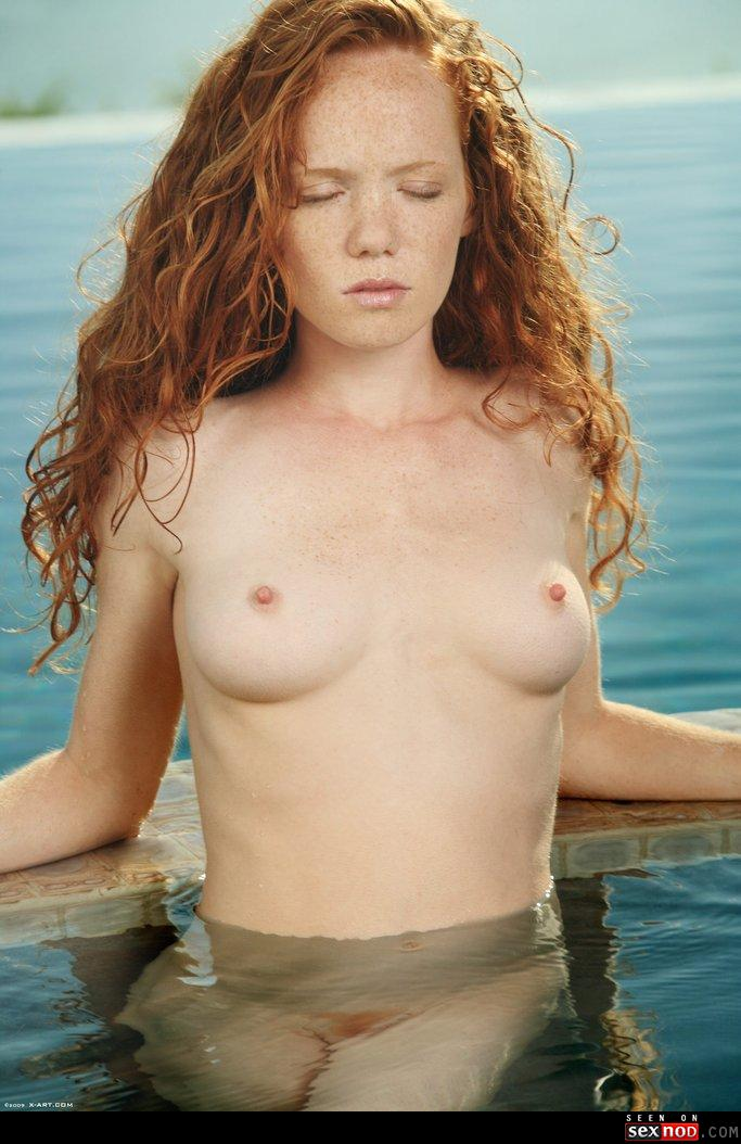 from Morgan topless red head women