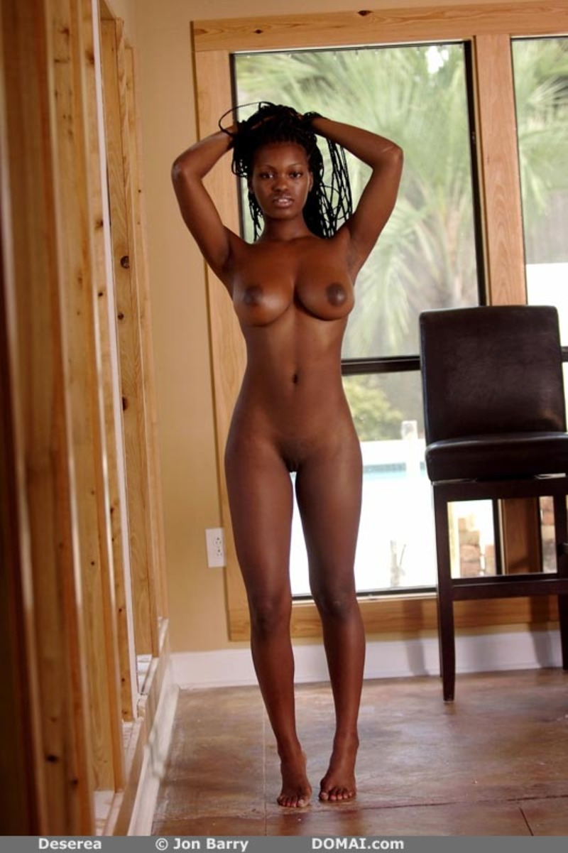 Beautiful black women nude outdoors