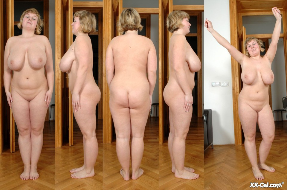 naked faty standing lady