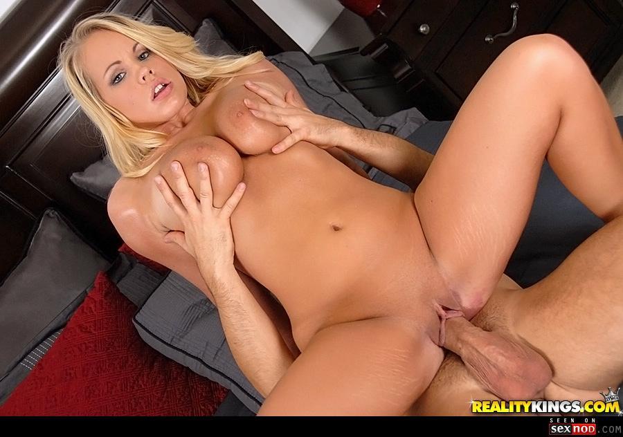 Big tits cock cum