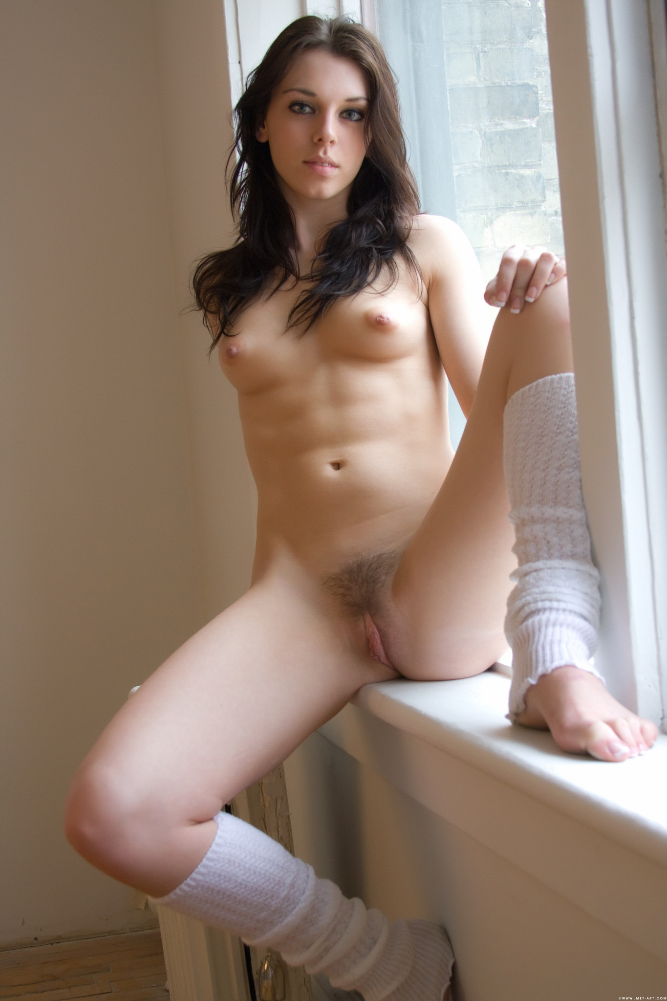 Amateur girl with strap on