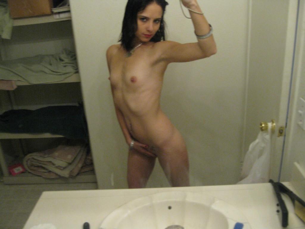 Skinny girl nude self commit