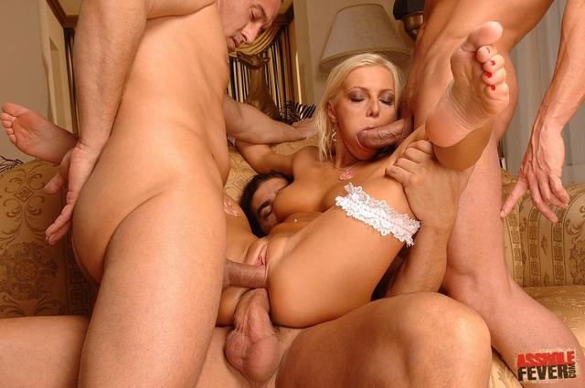 Triple penetration cum really. And