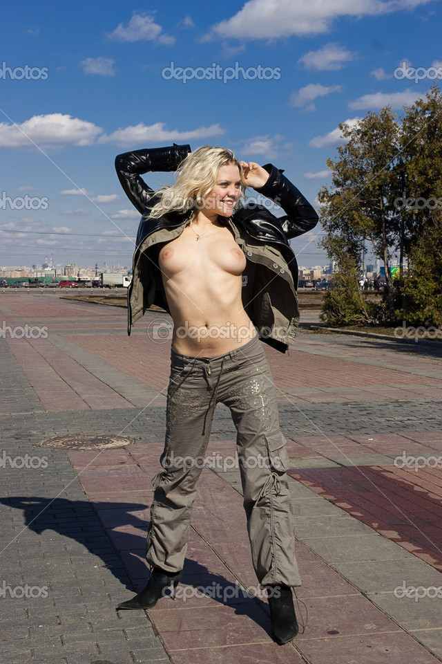 bare breasts pics photo blonde breasts stock bare depositphotos
