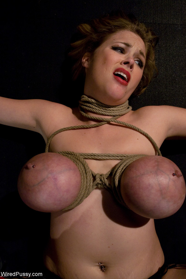 big boobs bondage pics pictures pussy tits tight bondage tied wired