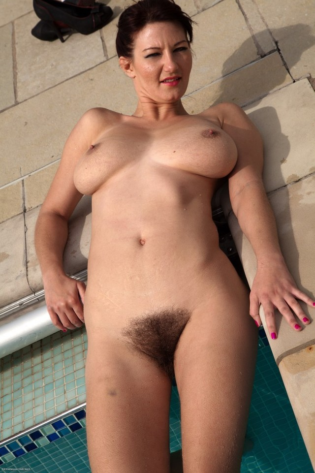 big hairy pussy pics pussy sexy milf hairy bikini blue pool van relaxes srs boobed
