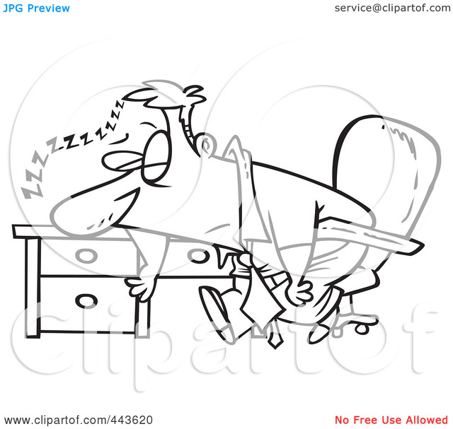 black clip porn free pictures art black white his cartoon clip sleeping design desk royalty illustration tired clipart vector outline businessman