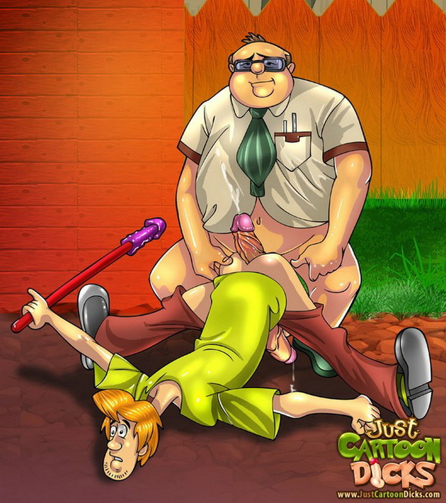 doo porn scooby ass dicks gay from gets cartoon scooby doo series shaggy destroyed