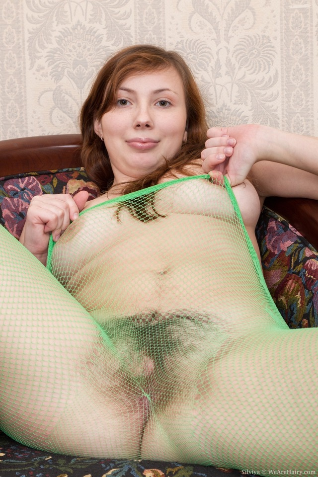 hairy porn porn pussy off this watch hairy from legs favorite loves that green pleasure much slides wearing nylon between wearehairy lips silviya greenfishnet them herself