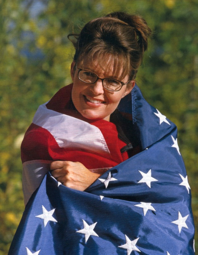 porn label porn palin flag wrapped gag sight patriotic