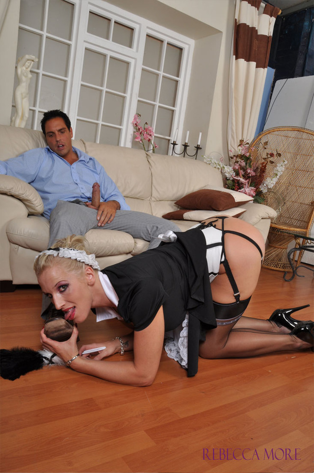 porn stocking maid fucked more slut french stockings stocking footjob rebecca rebeccamore employer