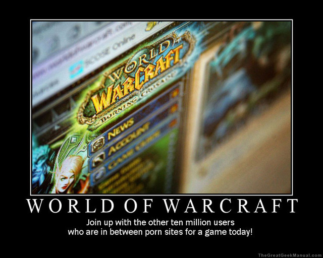 world of warcraft porn porn poster humor world january warcraft motivational