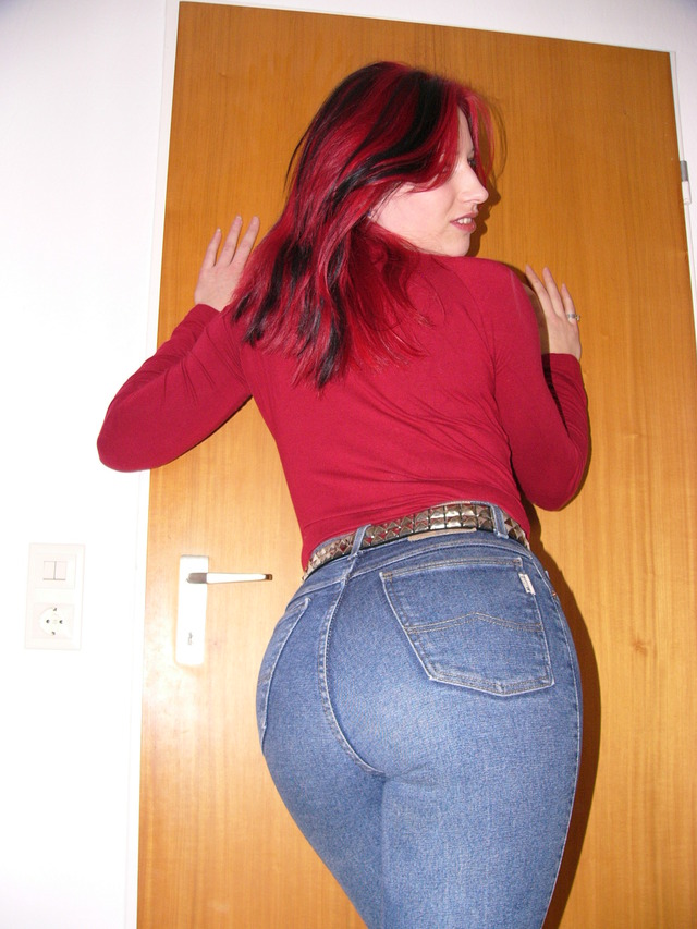 big tight booty pics girl ass redhead jeans