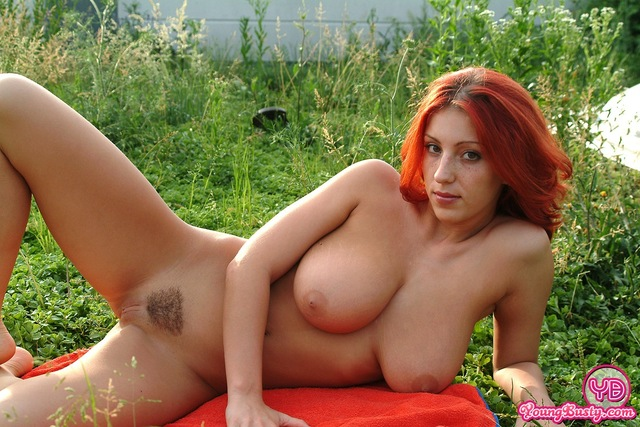 big tits pics pictures tits galleries redhead outdoors