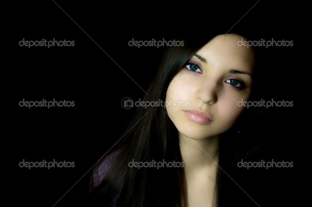 brunette woman pics young photo woman brunette stock eyes depositphotos sad