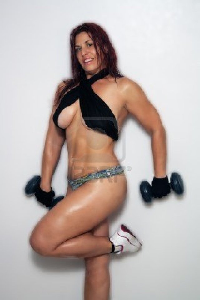 busty redhead pictures photo sexy busty redhead working out cspmedia weights