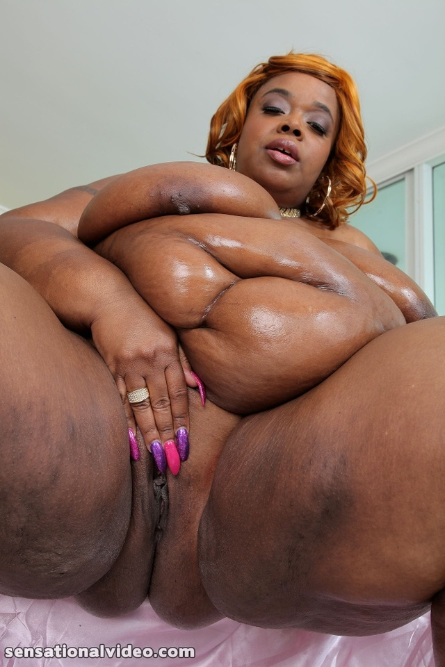 Ass fat Oil nude ebony
