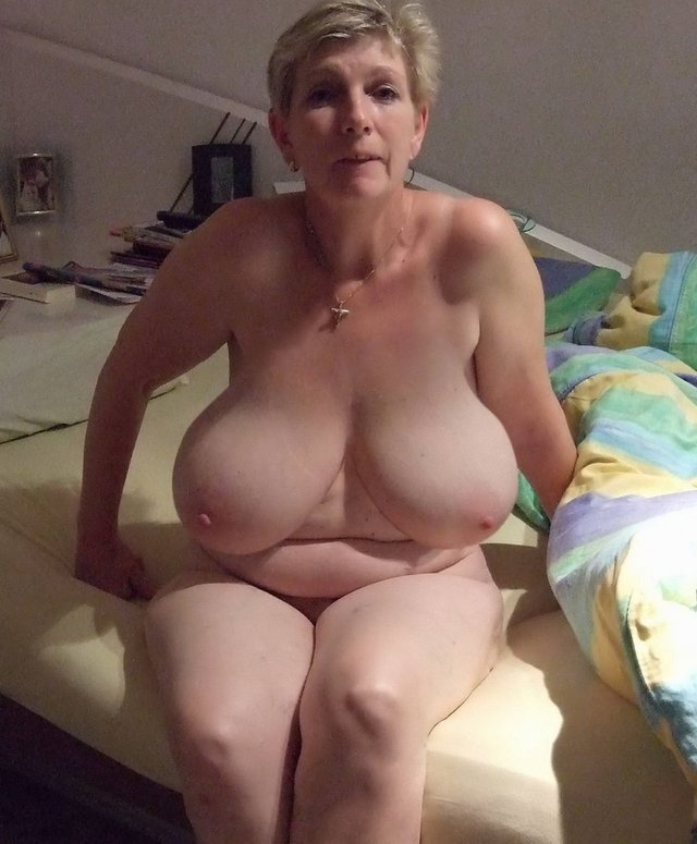 Old fat women almost naked