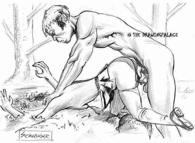 Cumshot art wetherell erotic comics