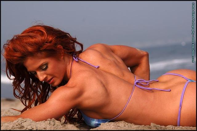 fit redhead redhead nude babes gets fit public beach fully
