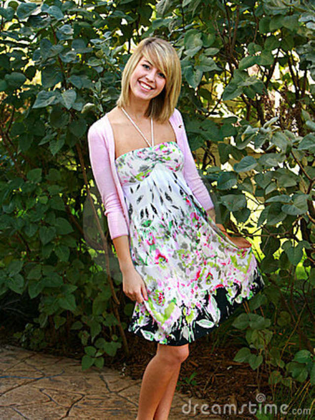 free blond babes free teen blond dress stock royalty floral