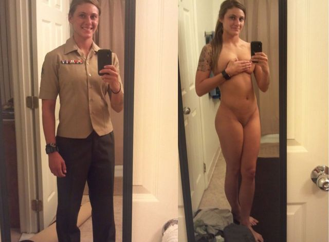 Can Naked women in uniform military