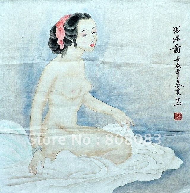 free nude sexy woman free girl nude naked beauty hand price chinese painted shipping painting font wsphoto