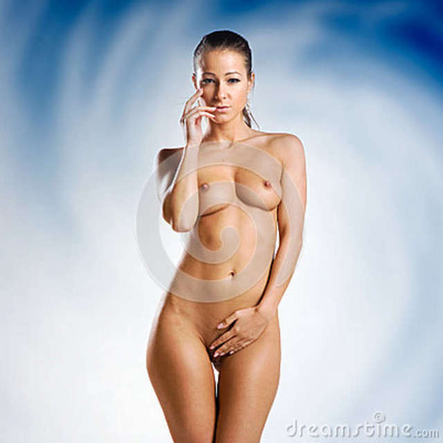 free nude sexy woman free beautiful sexy nude naked woman white very blue background stock royalty