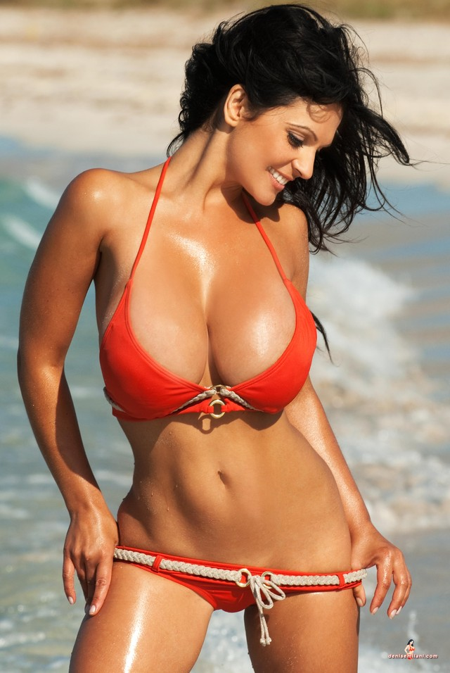 giant tits porn pictures porn pictures tits from bikini out red giant denise milani spilling