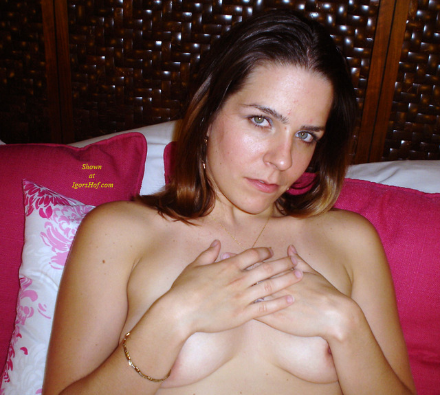 girl long nipples girl pics tits small brown haired trying hide
