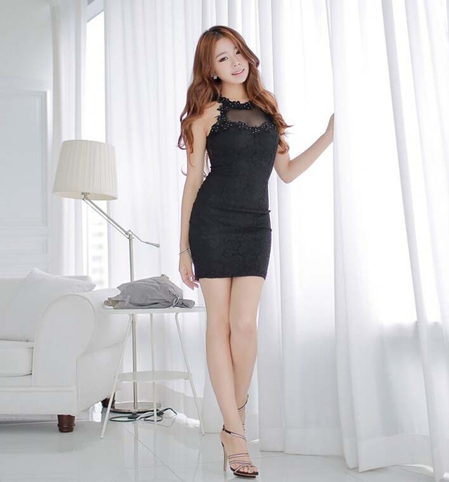 hot black sexy chicks hot size sexy female black lady one dress color sale split goods cozy wrap chic stylish joint gauze sleeveless