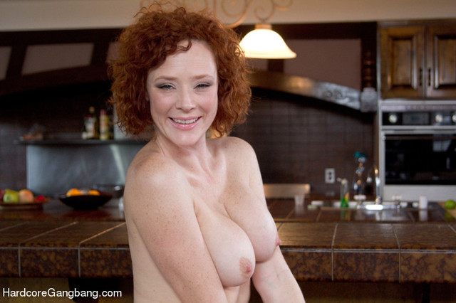 hot porn redhead porn redhead gets double audrey gangbang penetrated hollander