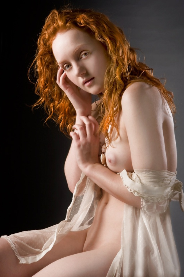 hot red head nude redhead portrait nude lovely
