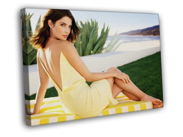 hot sexy feet photo hot sexy legs feet yellow dress print cobie smulders itm wall canvas framed