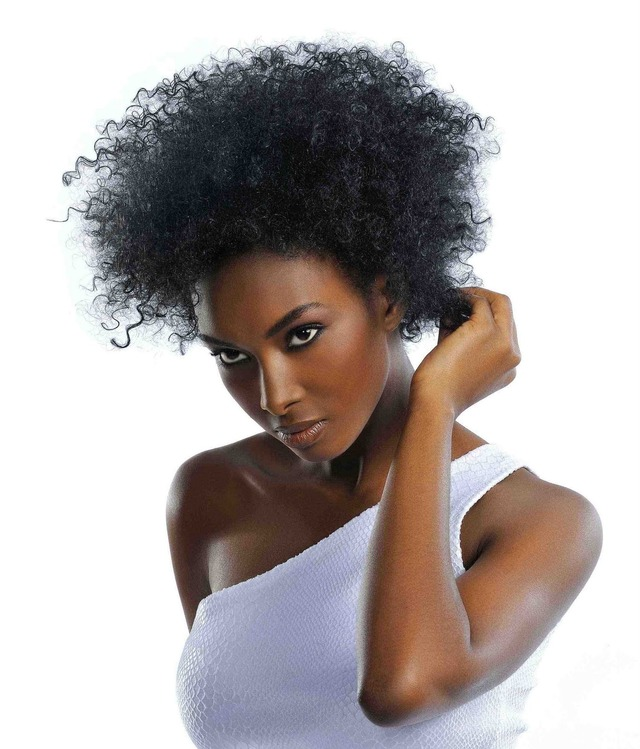 hot young black women women black curly hairstyle