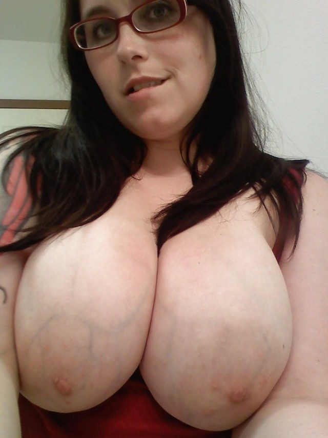 big boobs Geek girl with
