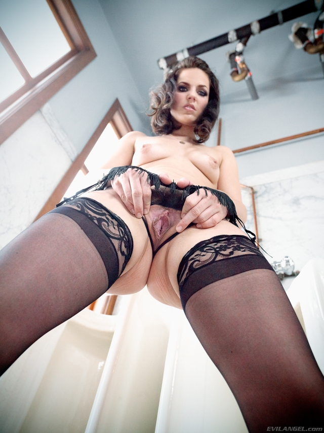 just black pussy photos pussy tits sexy off from black brunette small wet stockings leg shows below spread