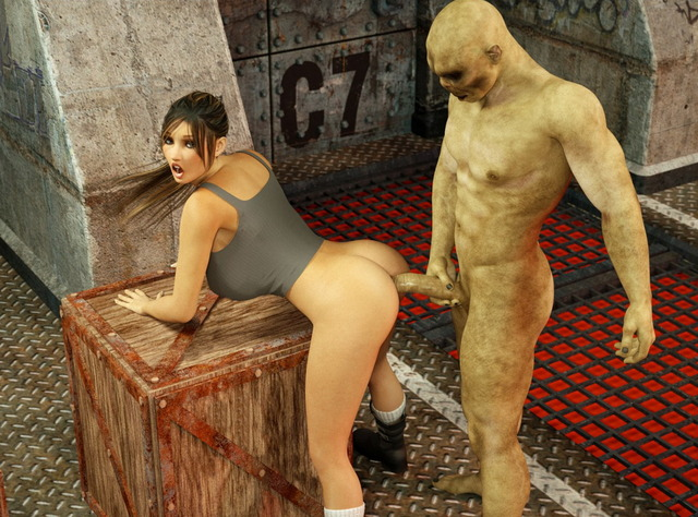 monster 3d sex pics original media brunette monster sexually geeked monsters pair poked robust