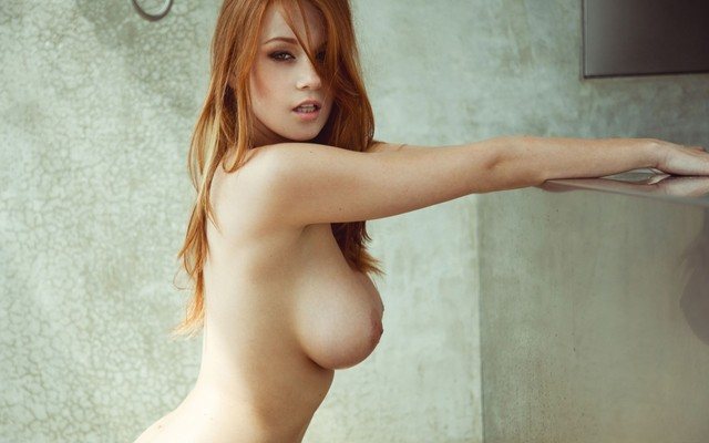 naked red haired pussy beautiful red boob side head jukzjye