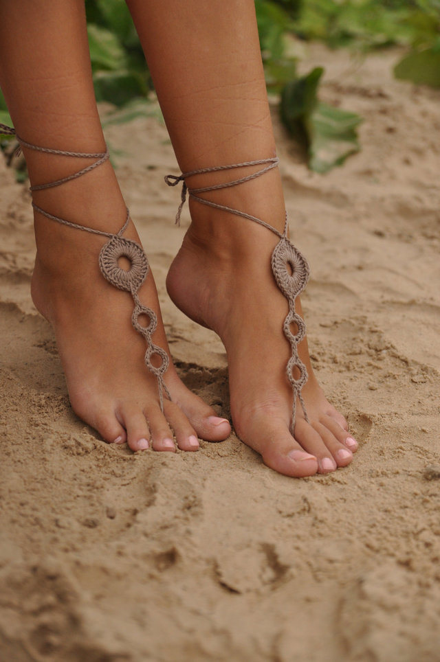 pics of sexy feet nude listing brown tan barefoot fullxfull crochet sandals